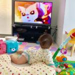 100均のグッズだけ使用!赤ちゃんのテレビ台付近のいたずら防止対策をしたらかなりの安心設備になりました